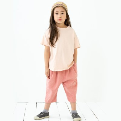 앰버 7부린넨 팬츠 핑크