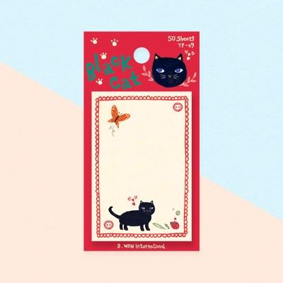 디원 검은고양이 점착메모지(YP09)