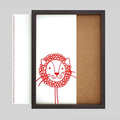 스케치북 통째로넣는 그림보관 액자 8절 - 에스프레소