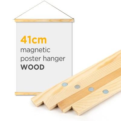 자석 포스터 걸이 - 우드 41cm (A2 포스터용)