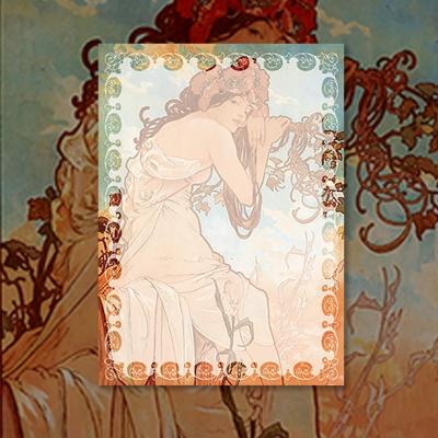알폰스 무하 사계 : 여름 명화 떡메모지