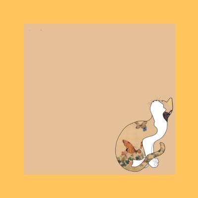 민화를 뛰쳐나온 고양이 떡메모지