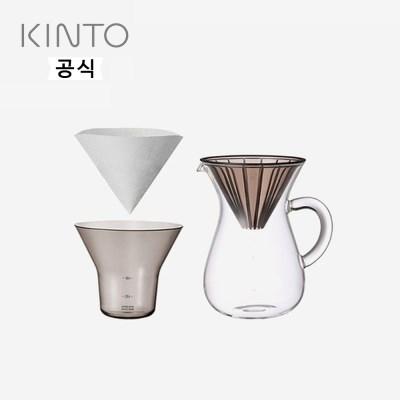 킨토 슬로우커피 스타일 커피 카라페 드립세트 600ml(플_(1419325)