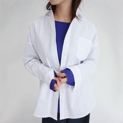 pocket cotton basic shirts (5colors)_(1316447)