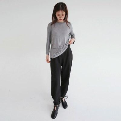 button wearable jogger pants (3colors)_(1316441)