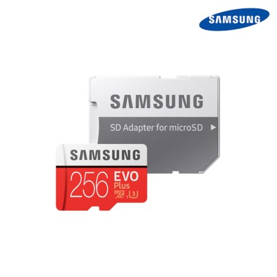 삼성정품 마이크로 SD카드 EVO PLUS 256GB+SD 어댑터 메모리카드