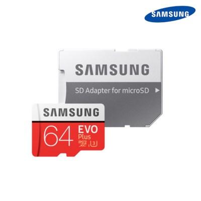 삼성정품 마이크로 SD카드 EVO PLUS 64GB+SD 어댑터 메모리카드