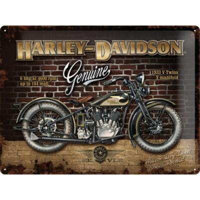노스텔직아트[23124] Harley-Davidson Brick Wall