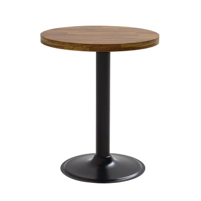2인용 무늬목600 원형 고무패킹 원반다리 티테이블