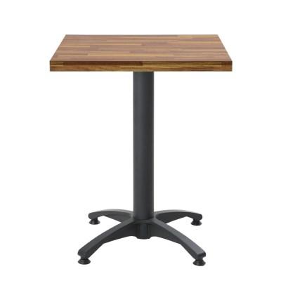 2인용 무늬목600 사각 사발다리 티테이블