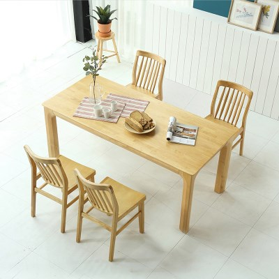 키요 고무나무 원목 식탁 테이블 6인용 1800_(1255158)