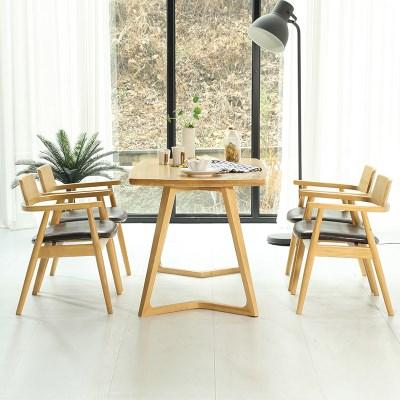 토슨 고무나무 원목 4인 식탁 세트 의자형_(1255142)