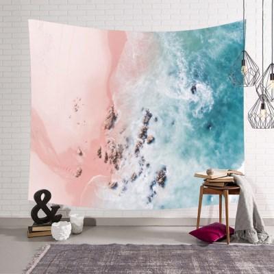 태피스트리 벽장식 패브릭 포스터 - 핑크 샌드 (150x130cm)