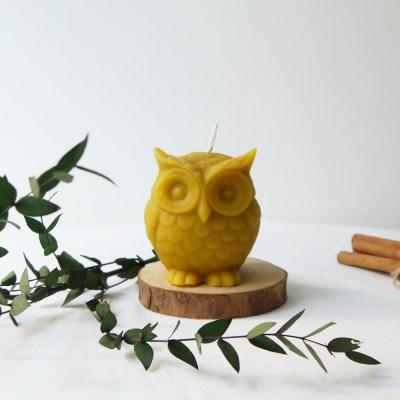 [Honey Bees Candle] 부엉이 밀랍초