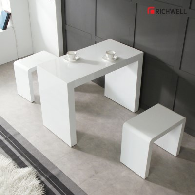 리치웰 하이그로시 모던 멀티일자 식탁 테이블 800 (의자별도)