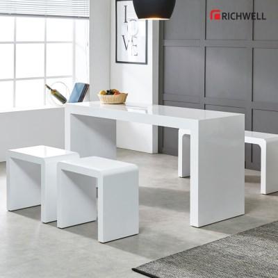 리치웰 하이그로시 모던 멀티일자 식탁 테이블 1200 (의자별도)
