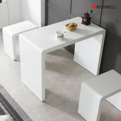 리치웰 하이그로시 멀티일자 식탁 테이블 800 (의자별도)