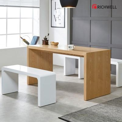 리치웰 천연무늬목 아벨 식탁 테이블 1800 (의자별도)