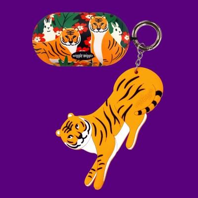 [위글위글] 갤럭시 버즈케이스&키링SET - Funky Tiger
