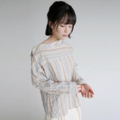 seersucker material mood blouse (2colors)_(1320893)