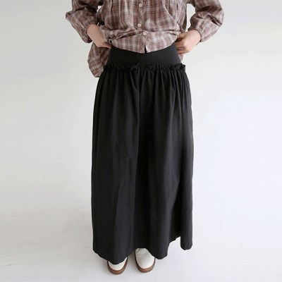 frill detail cotton maxi skirts (3colors)_(1320891)