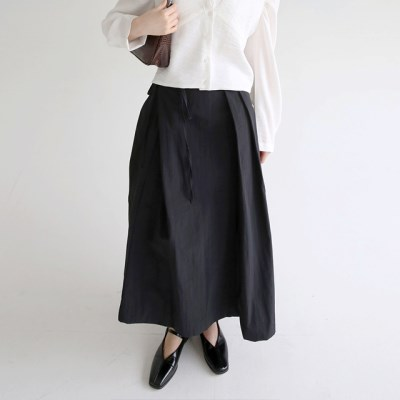 wrap forming dry texture skirts (black)_(1320888)
