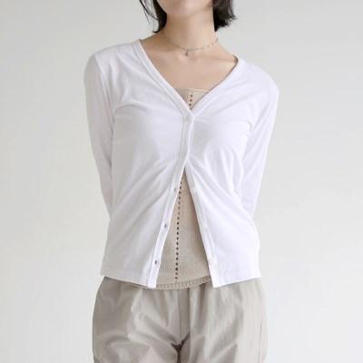 sheer light v neck cardigan (white)_(1320883)