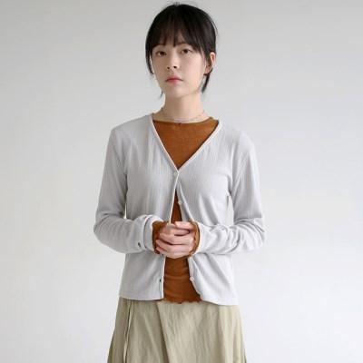 slim fit sheer cardigan (3colors)_(1320881)