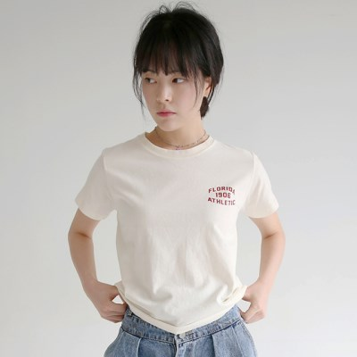 simple lettering cotton tee (4colors)_(1320879)