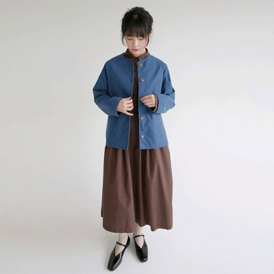 non colloar cotton jacket (3colors)_(1320875)