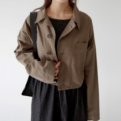 cozy cotton crop jacket (3colors)_(1320873)