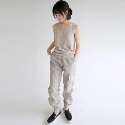 sheen crispy texture jogger pants (2colors)_(1320864)