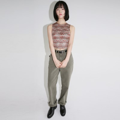 cool washed solid cotton pants (2colors)_(1320863)
