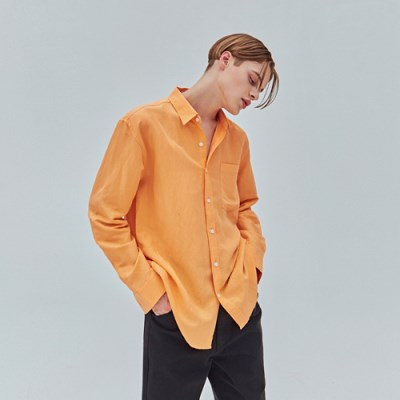 BRIGHT POINT LINEN SH_ORANGE