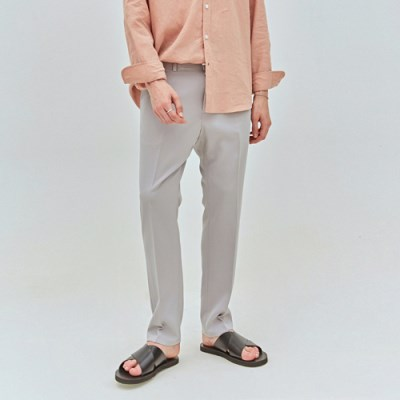 COOL SLIM STRAIGHT SLACKS_GRAY