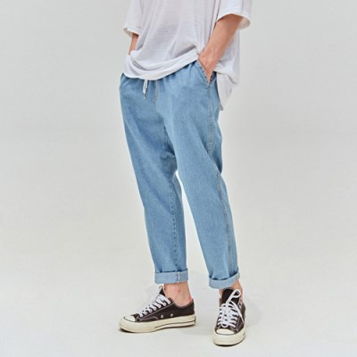 COMFORT BANDING PANTS_DENIM