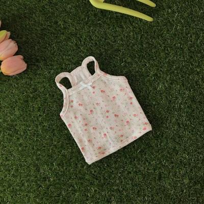 Flower lace sleeveless (pink)