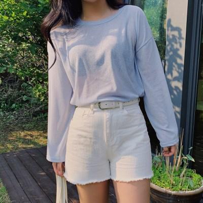 쿨썸머 시스루 긴팔 티셔츠 (5color)
