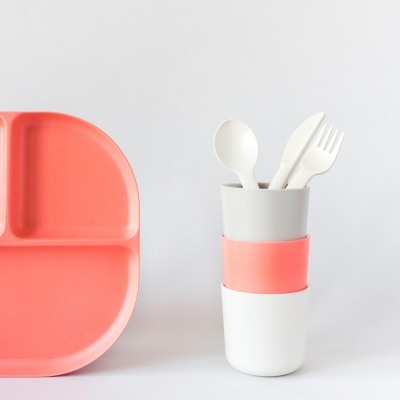 [에코보] 밤비노 트리오 커트러리 세트 (fork, spoon, knife)