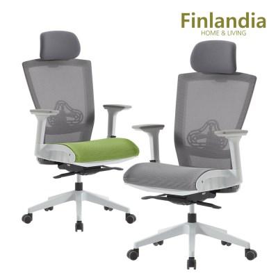 핀란디아 클라이 CT30W 에어 학생사무용 의자(헤드형)_(1211787)