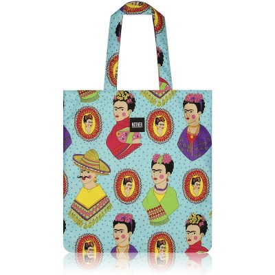 nother Fantastico Frida Flat Tote Bag (Frida Kahlo/Turquoise)