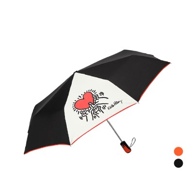 키스해링 하트 3단완전자동우산