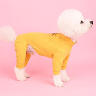폴라올인원(mustard) [어썸키즈] 강아지실내복 대형견옷 S-4XL