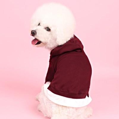 레이어드후드(burgundy) [어썸키즈] 강아지옷 대형견옷 S-4XL