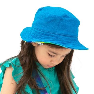 양면 키즈 버킷햇 블루 그린리브스