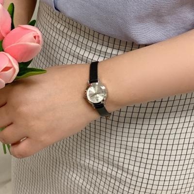 베이직 메탈 가죽 여성손목시계