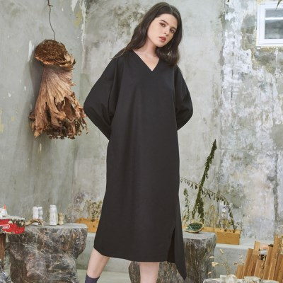 Relax Fit Classy Wool One-Piece Black