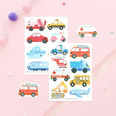 마넷 스티커 - 마넷 사각 투명 스티커 - Car