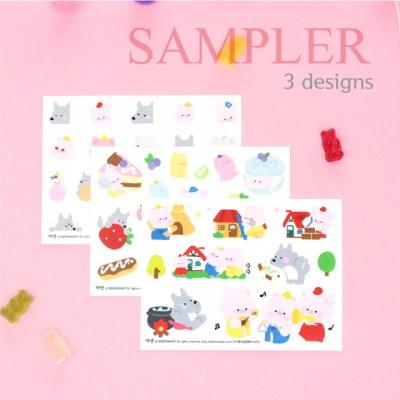 마넷 사각 스티커 sampler - [샘플러] 아기돼지삼형제