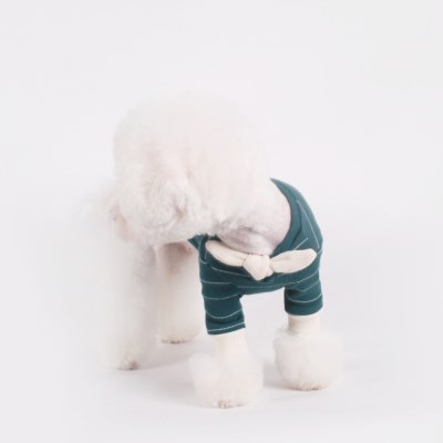 [T.쁘띠스카프티셔츠]petit scarf stripe T_Bluegreen